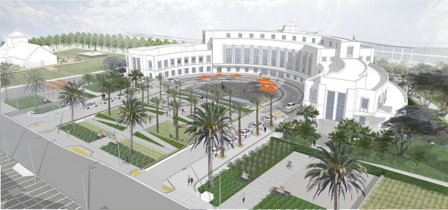 Image of future Administration Building plaza design