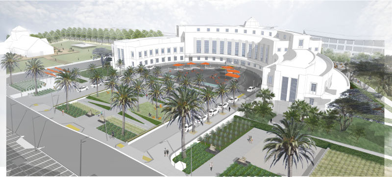 Image of Building 1 Plaza design rendering