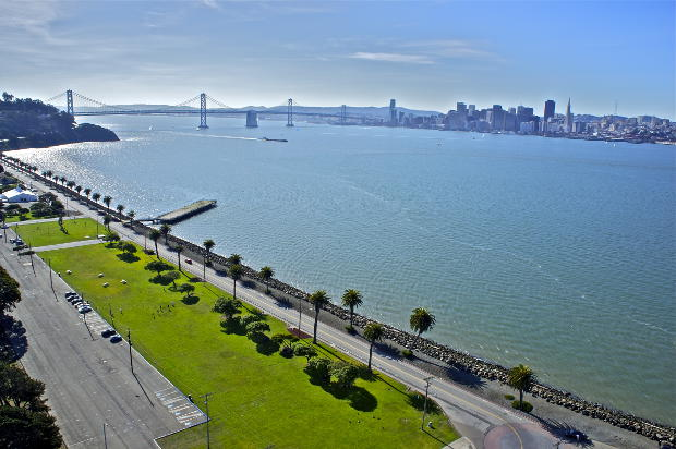 Image of TI Great Lawn and SF skyline