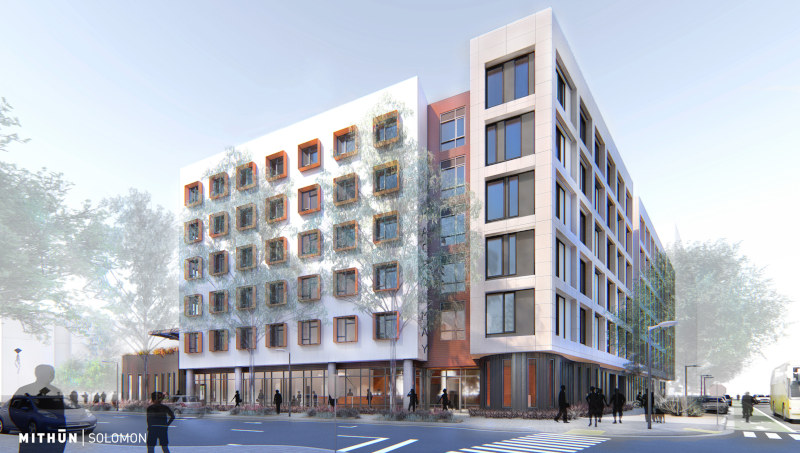 Rendering of future Maceo May residential development on Treasure Island