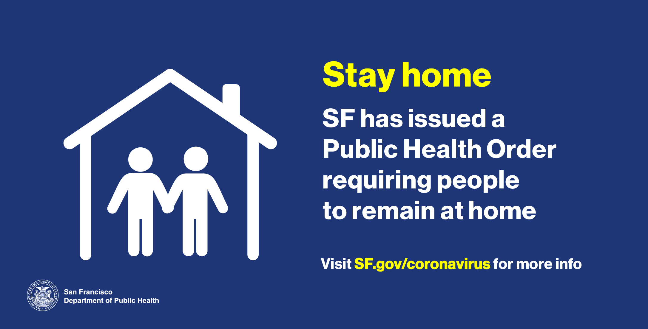 Graphic of SF Stay at Home program