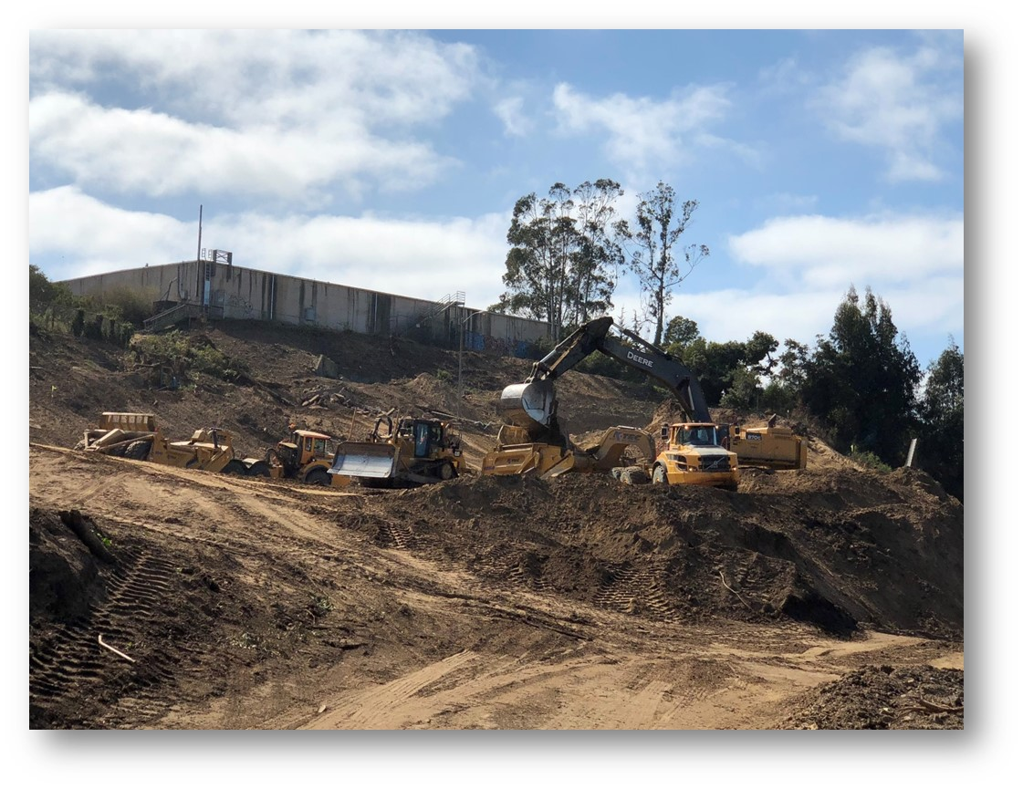 Image of excavation activity for new Yerba Buena Island water tank