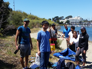 Image of volunteers during Clipper Cove Beach Cleanup